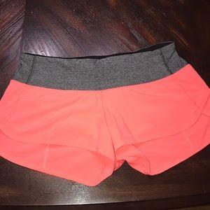 """Lululemon speed shorts 4"""""""